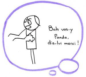 Fannys - Panda s'encourage à remercier