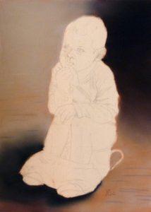 Fannys - Portrait pastels secs - Sur le pot - en cours