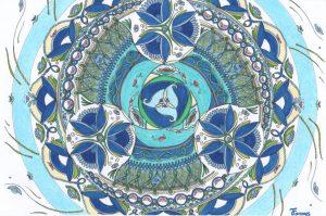 Fannys - mandala bleu