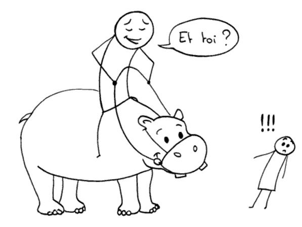 Dresser un hippopotame - et toi ?