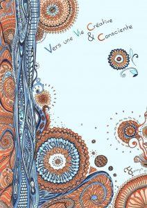 Fannys - Dessin aux feutres, vague bleue