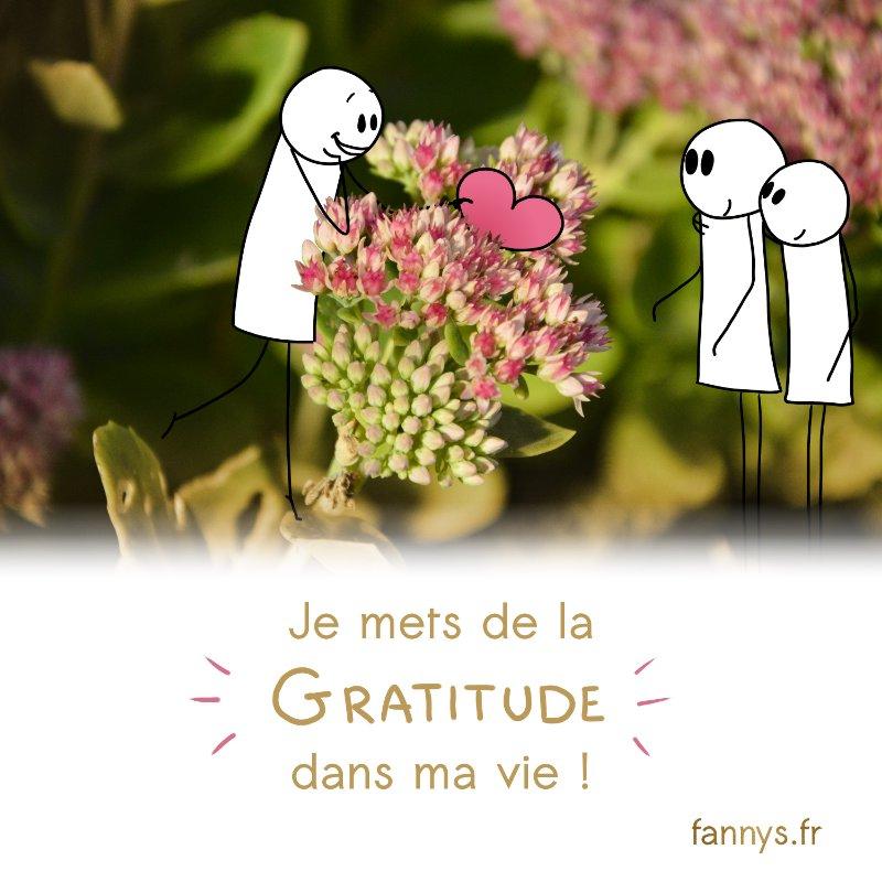 Je mets de la gratitude dans ma vie