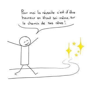 La réussite, c'est d'être heureux en étant soi-même, sur le chemin de ses rêves
