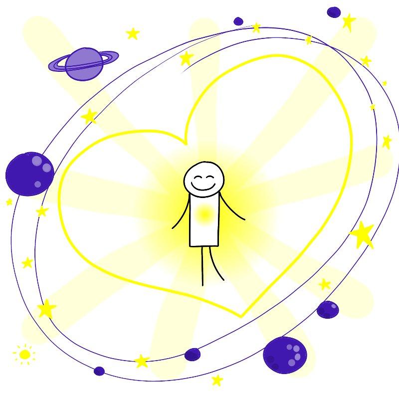 Je suis connecté à l'Amour universel
