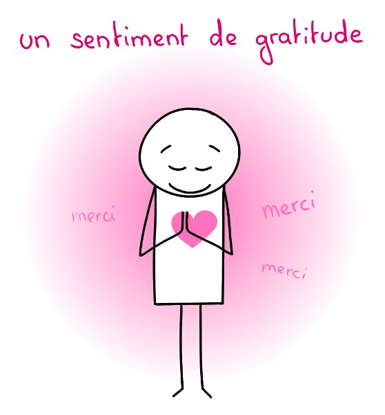 Un sentiment de gratitude - merci