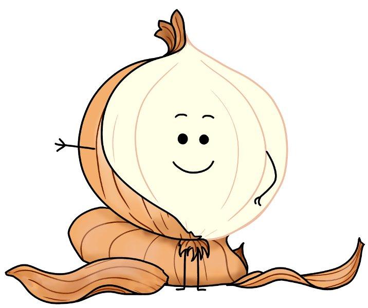 Retirer les couches de l'oignon (bonhomme)