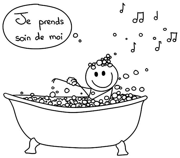 Je prends soin de moi... (en prenant un bain moussant !)