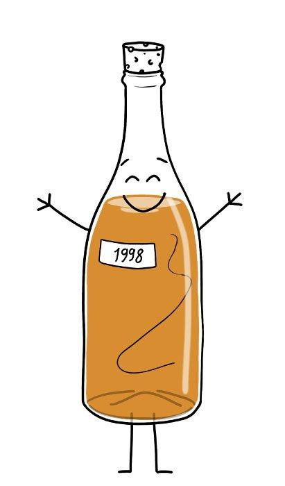 Une bouteille d'alcool de 1998