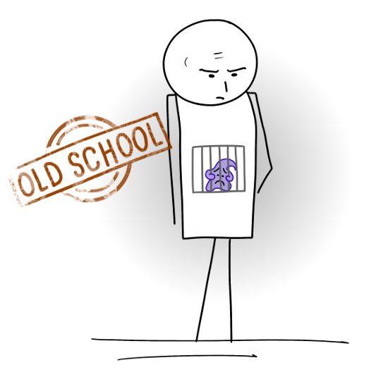 old school : être seulement intellectuel et nier ses émotions